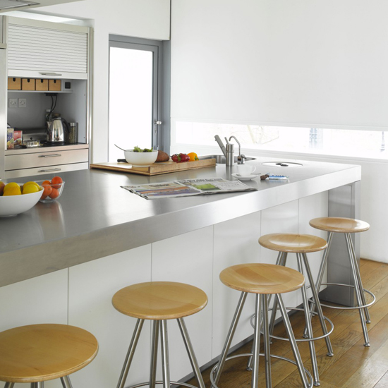 Stainless Steel Countertops Can Brighten Up Any Room, Reflecting Natural  And Artificial Lights As Well As Color. Stainless Steel Counters Provides A  Clean, ...